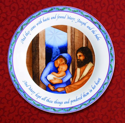 Mary, Joseph and the Babe 5 Piece Place Setting