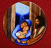 "Mary, Joseph and Babe 7.5"" Plate"